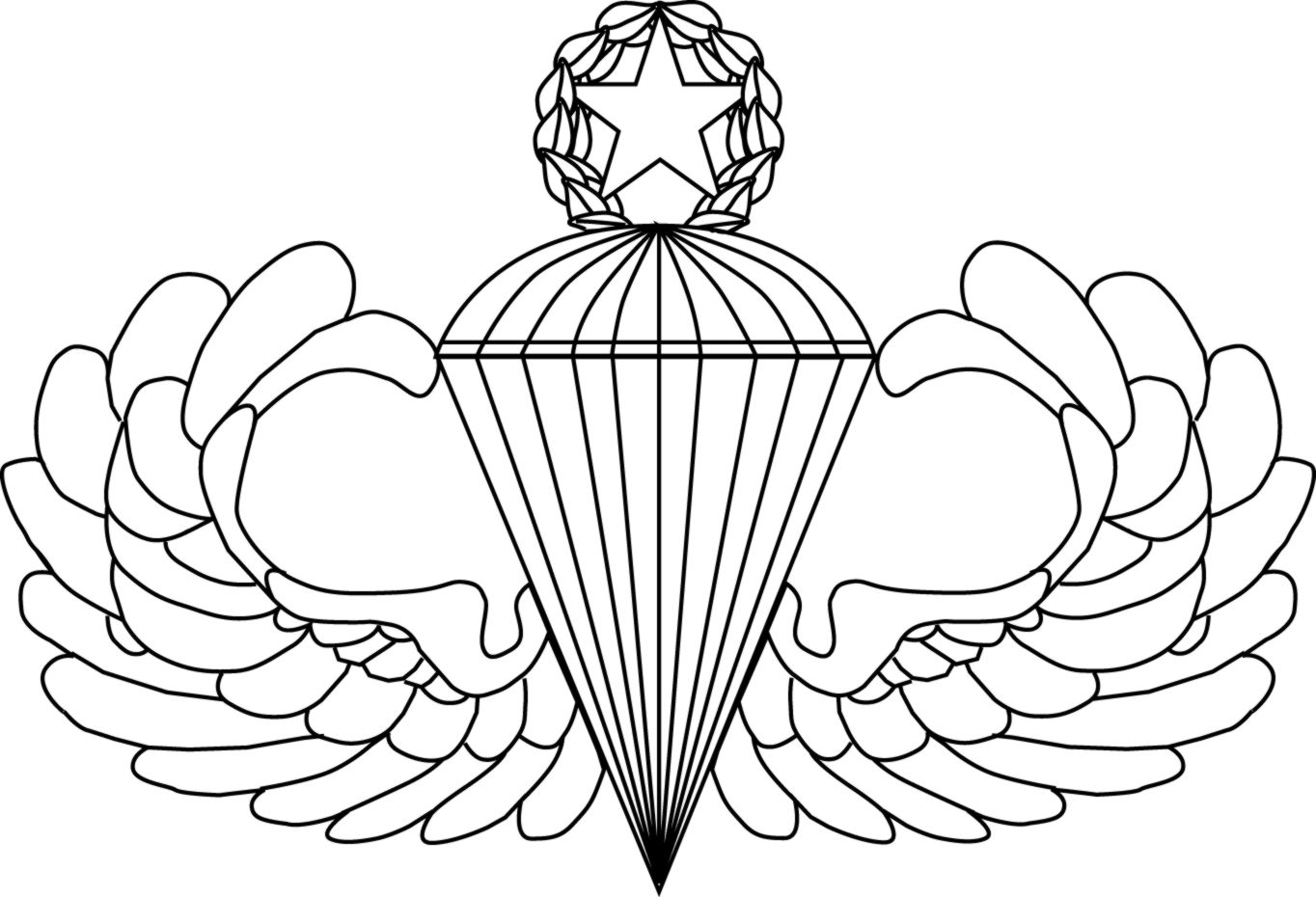 Jumpmaster Wings Clipart.