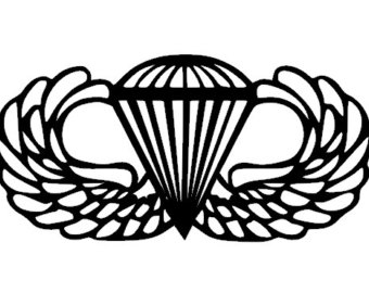 Gallery For > Paratrooper Jump Wing Clipart.