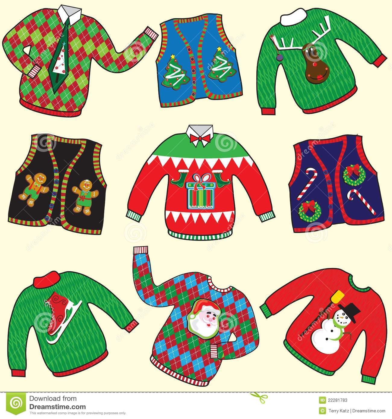 Christmas Jumpers Clipart.