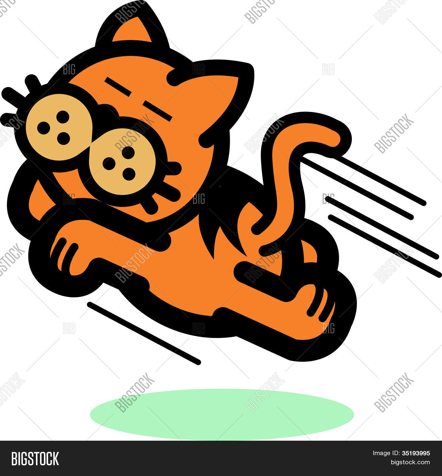 Cat Clip Art Running and Jumping Stock Vector & Stock Photos.