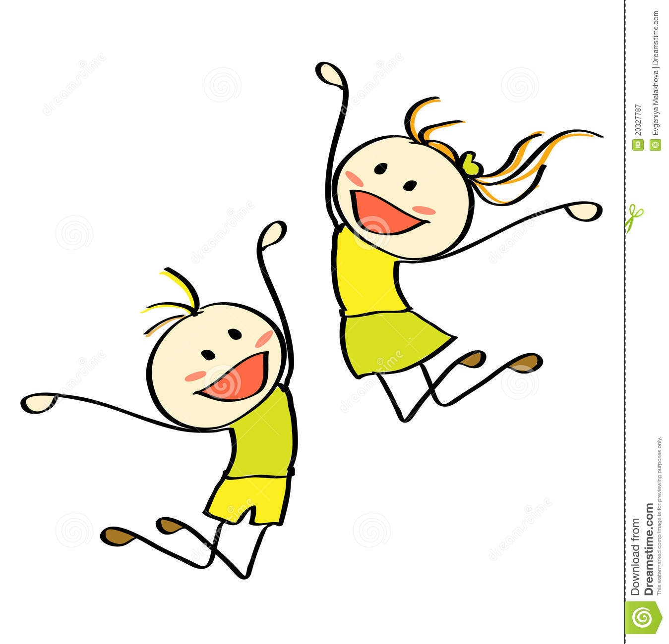 Kids jumping clipart.