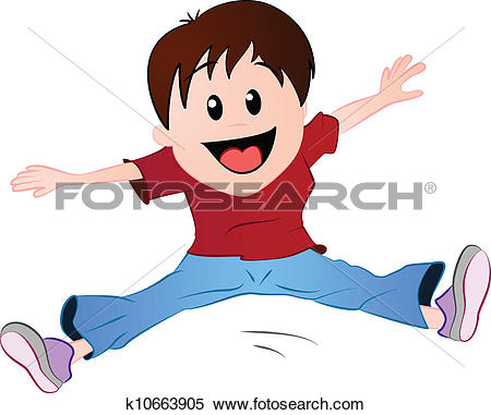 Stock Illustration of Boy jumping on a trampoline gwil12325.