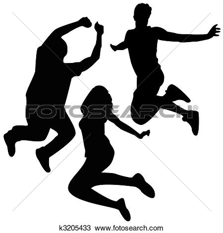 Clipart of Celebration silhouettes k1559931.