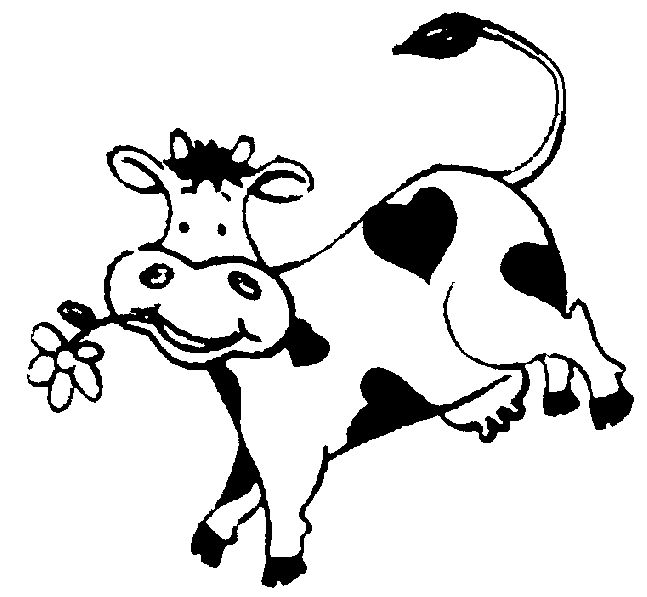 Cow Jumping Over The Moon Clipart.