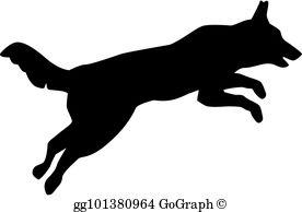 Jumping Dog Clip Art.