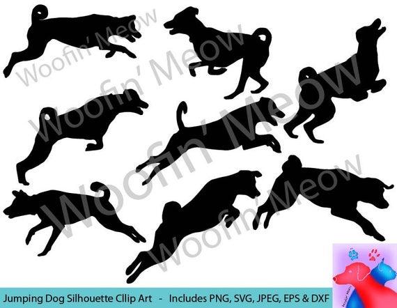 Australian Shepherd, Jumping Dog SVG, Dog Clipart, Dog Vector, Running Dog,  Aussiedoodle Dog Clipart, Dog Silhouette SVG Instant Download.