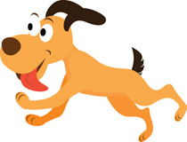 Dog Jumping Clipart.