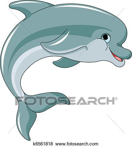 Jumping Dolphin Clip Art.