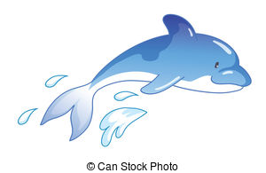Dolphin jumping out of water clipart free.