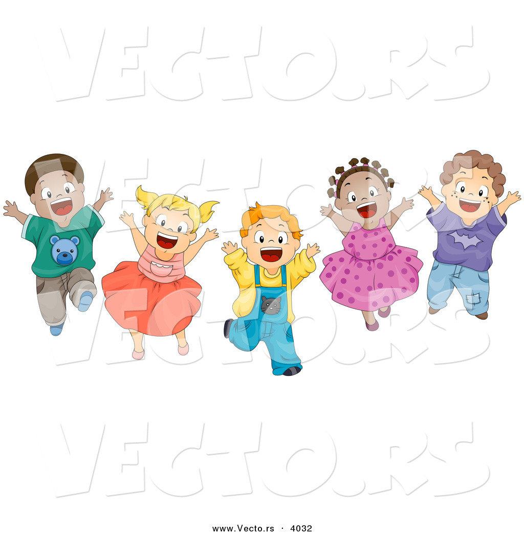 Jumping Up Clipart.