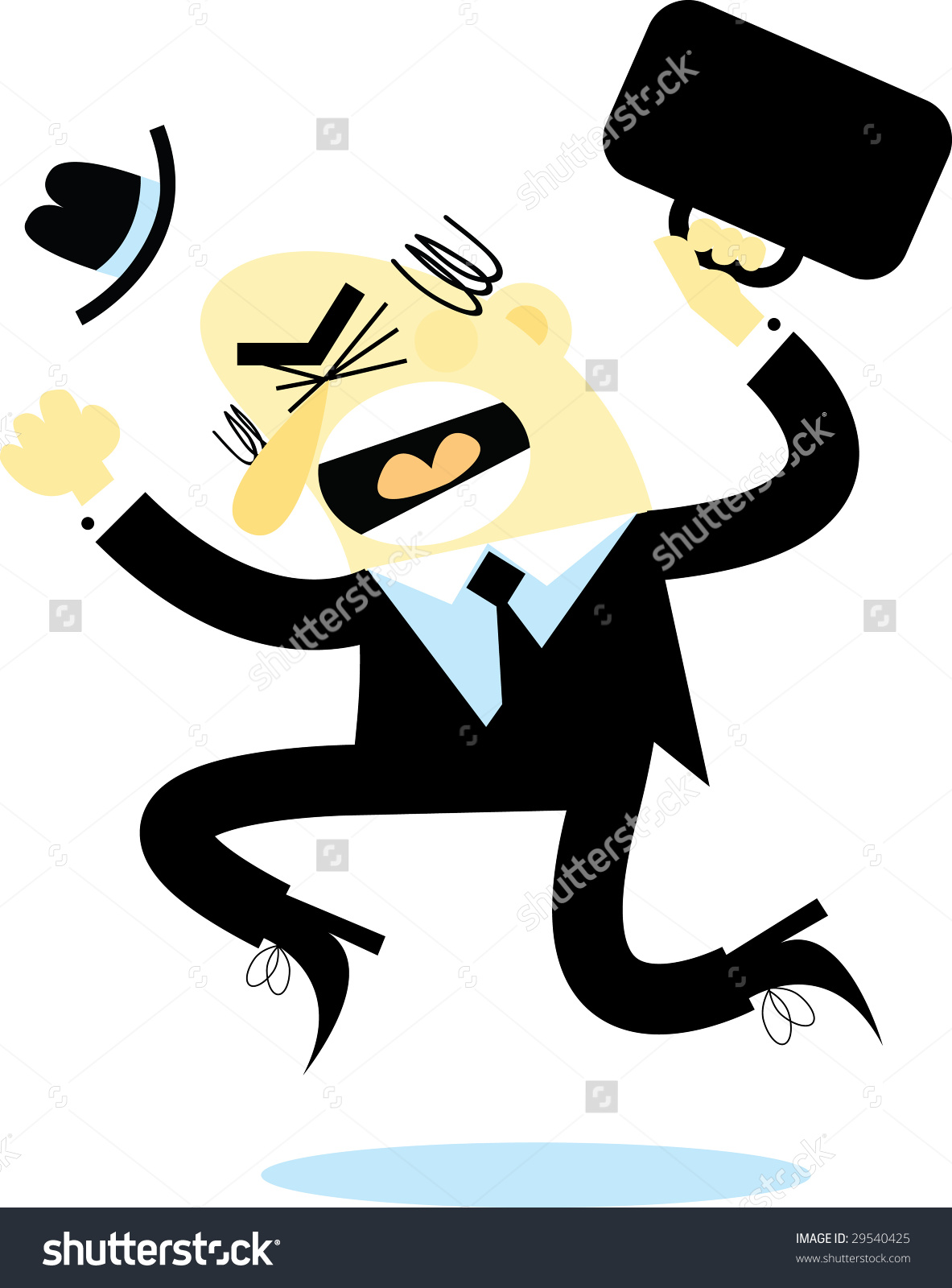 Businessman Jumping Down Anger Stock Vector 29540425.