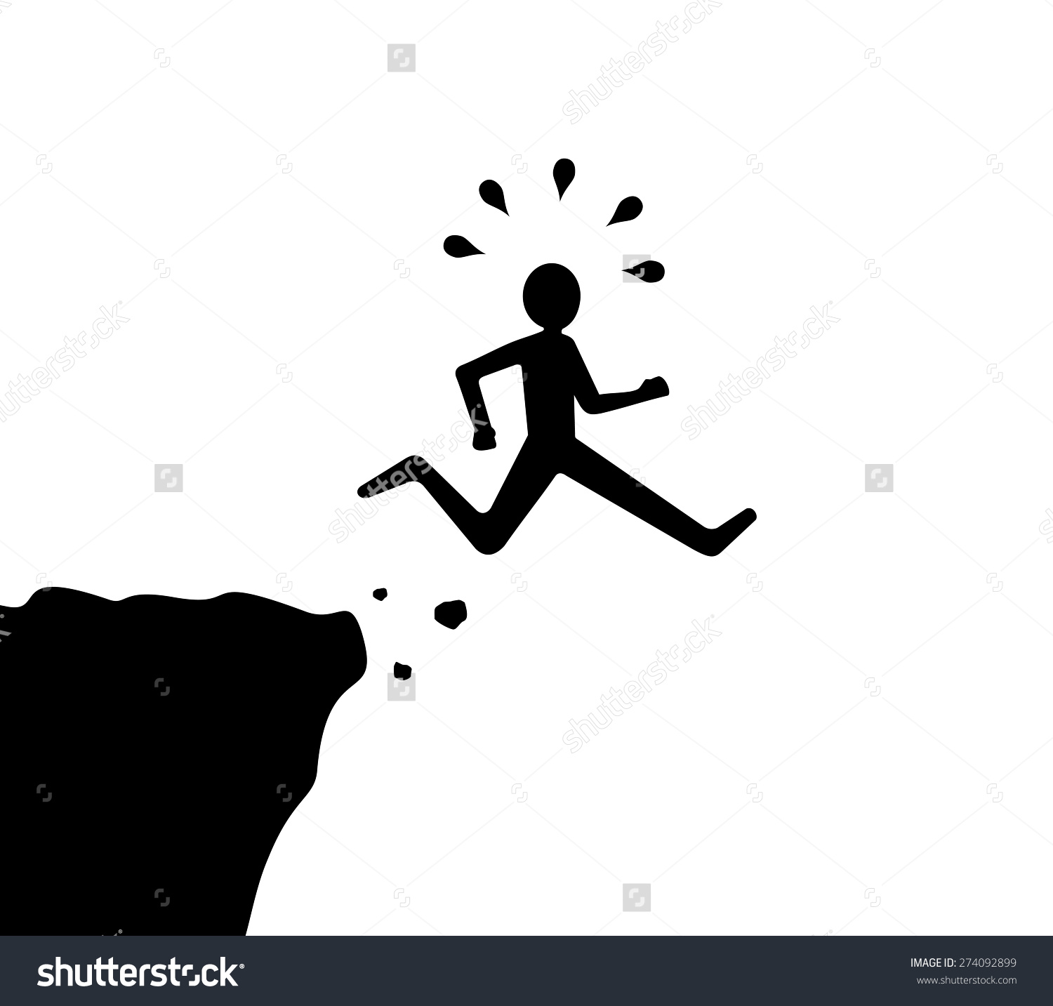 People jumping off buildings clipart.