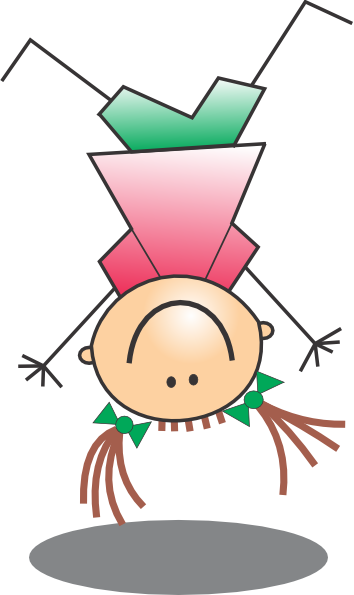 Girl Jumping Upside Down Clip Art at Clker.com.