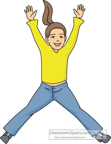 Girl Jumping Clip Art.