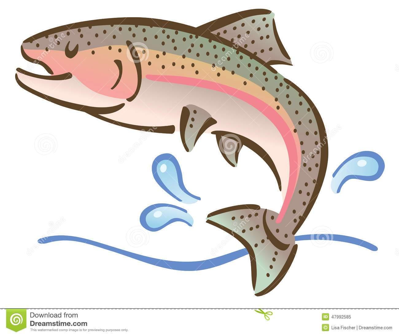 Jumping fish clipart » Clipart Portal.