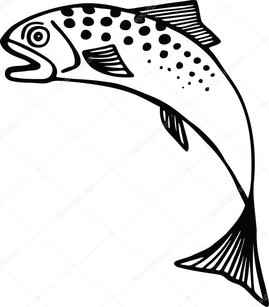 Clipart: jumping fish clip art.
