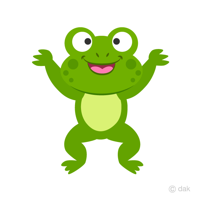 Jumping Frog Clipart Free Picture|Illustoon.
