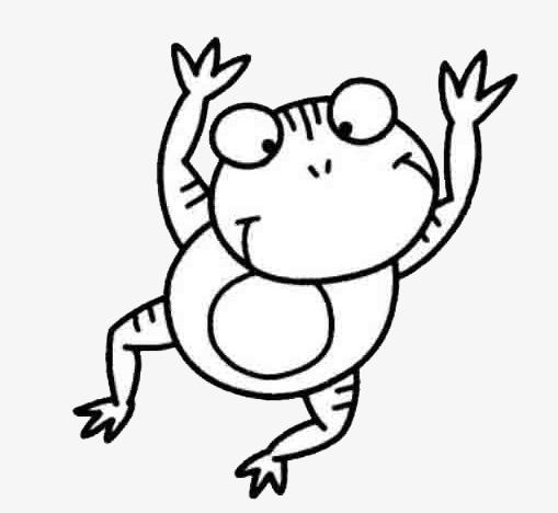 Frog Jump, Frog Clipart, Cartoon, Hand P #58481.