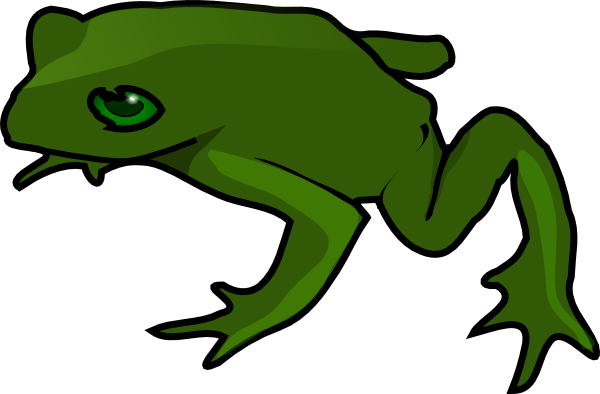 Jumping Frog Clipart.