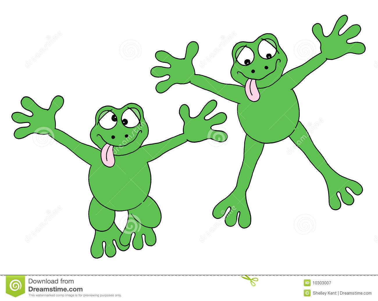Jumping Frogs Royalty Free Stock Photography.
