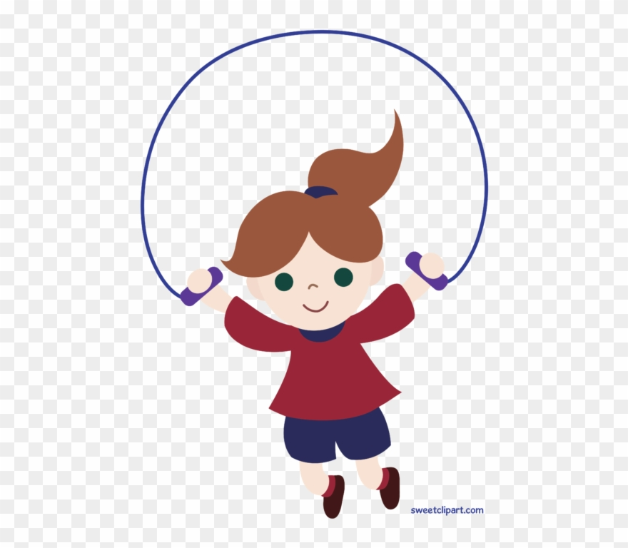 Girl Jumping Rope Clipart.