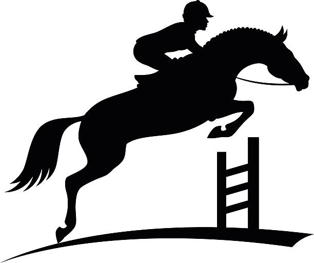 Horse Show Jumping Clipart.