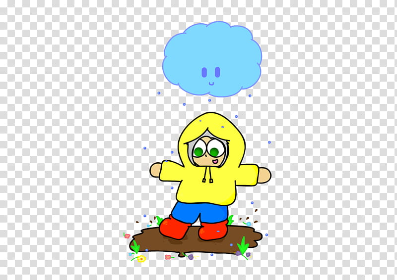 Jumping in Puddles transparent background PNG clipart.