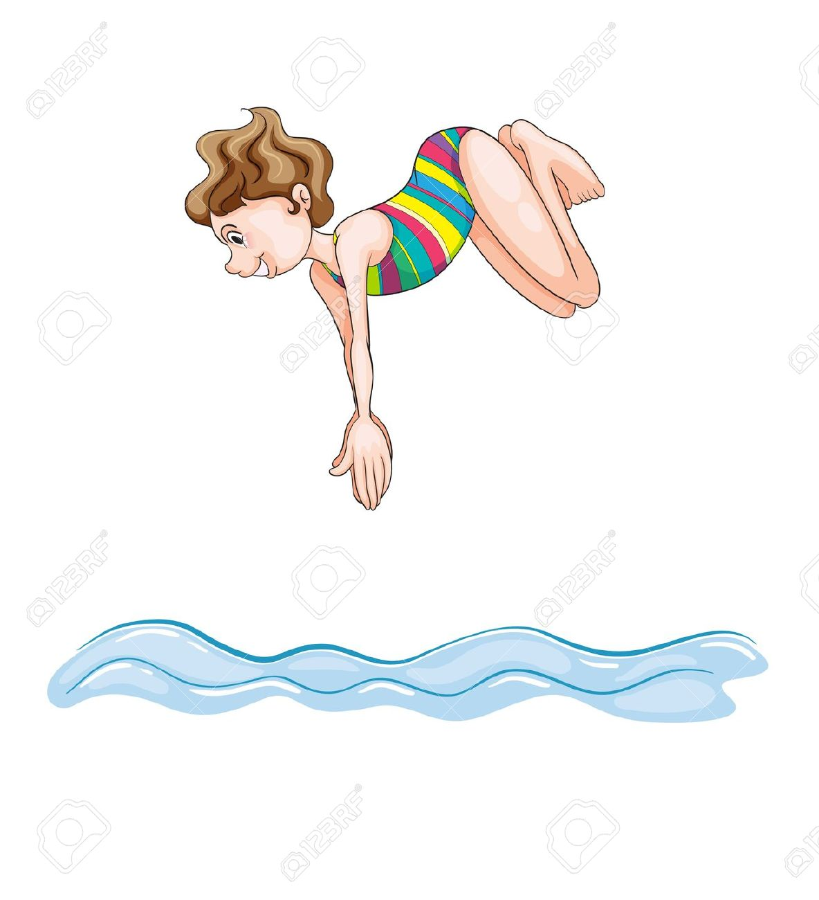 Jump into water clipart.