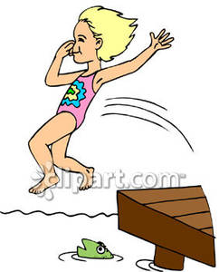 Jump in water clipart.
