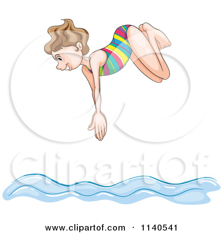 Diving into water clipart.