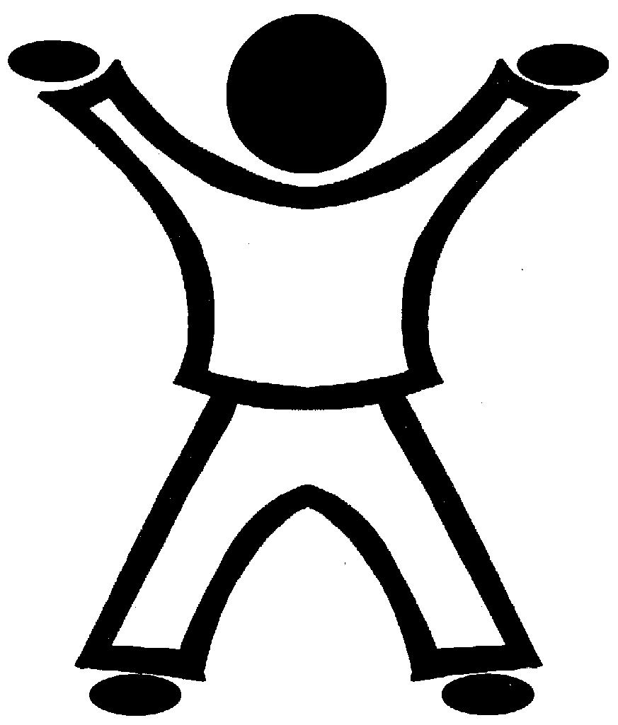 Jumping jack clipart.