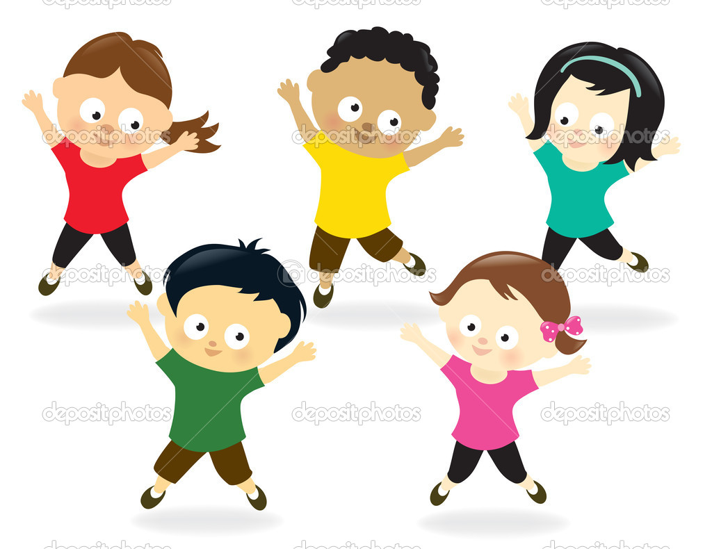 Jumping Jacks Animated Clipart.