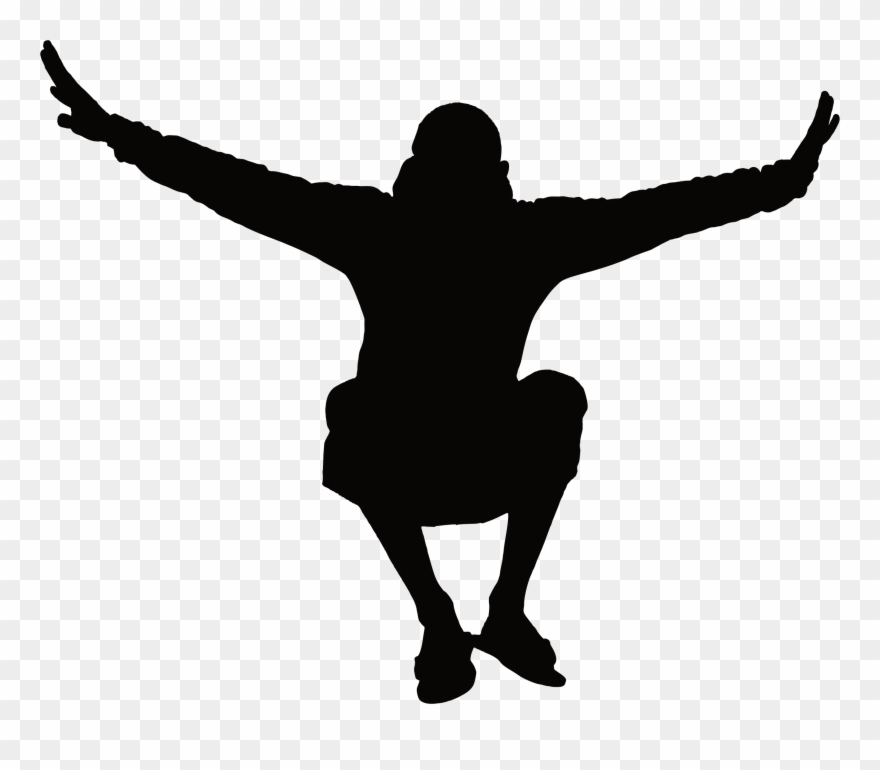 Man Jumping Silhouette Icons Png.