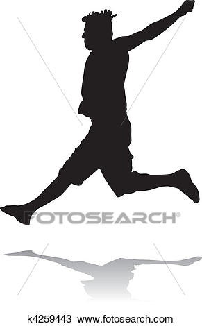 Jumping man Clipart.