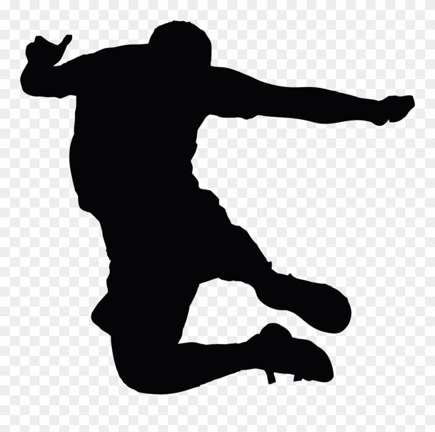Jumping Man Silhouette.