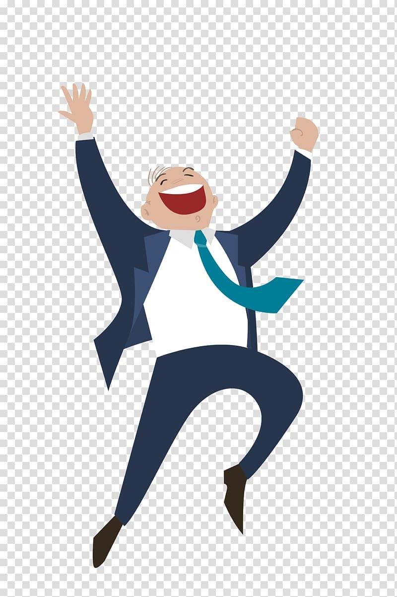 Business Entrepreneurship Startup company, The jumping man.