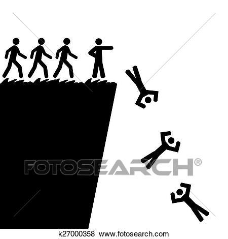 Jumping off a cliff Clip Art.