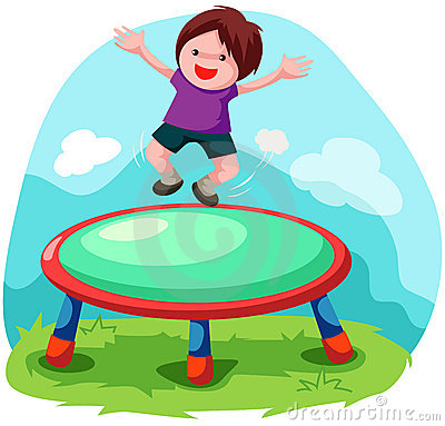 A Jump On Trampoline Clipart.