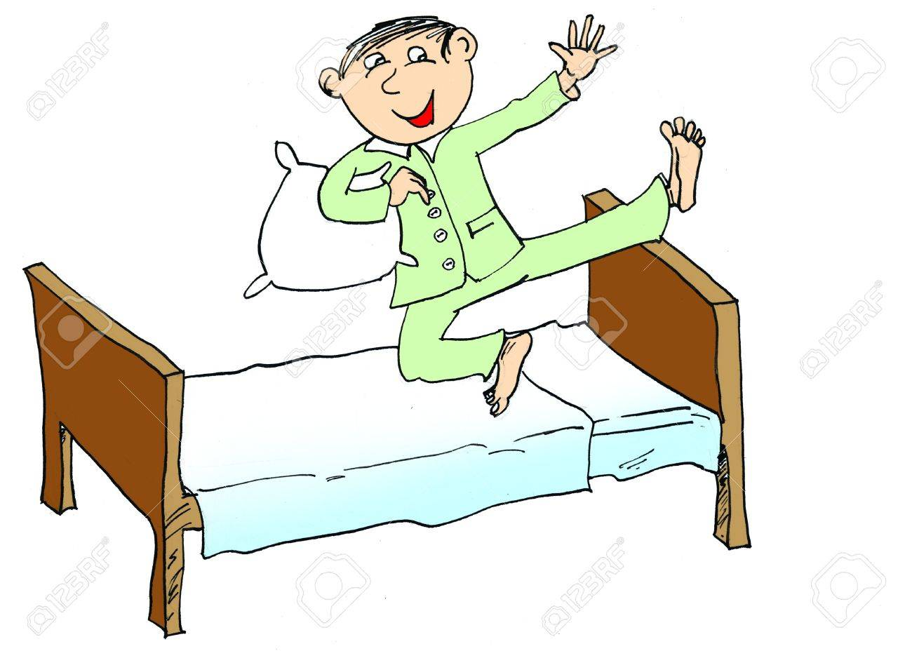 Jump Out Of Bed Clipart.