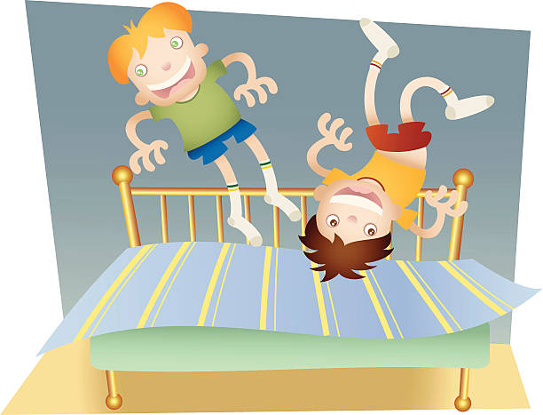 Jumping On Bed Clipart.