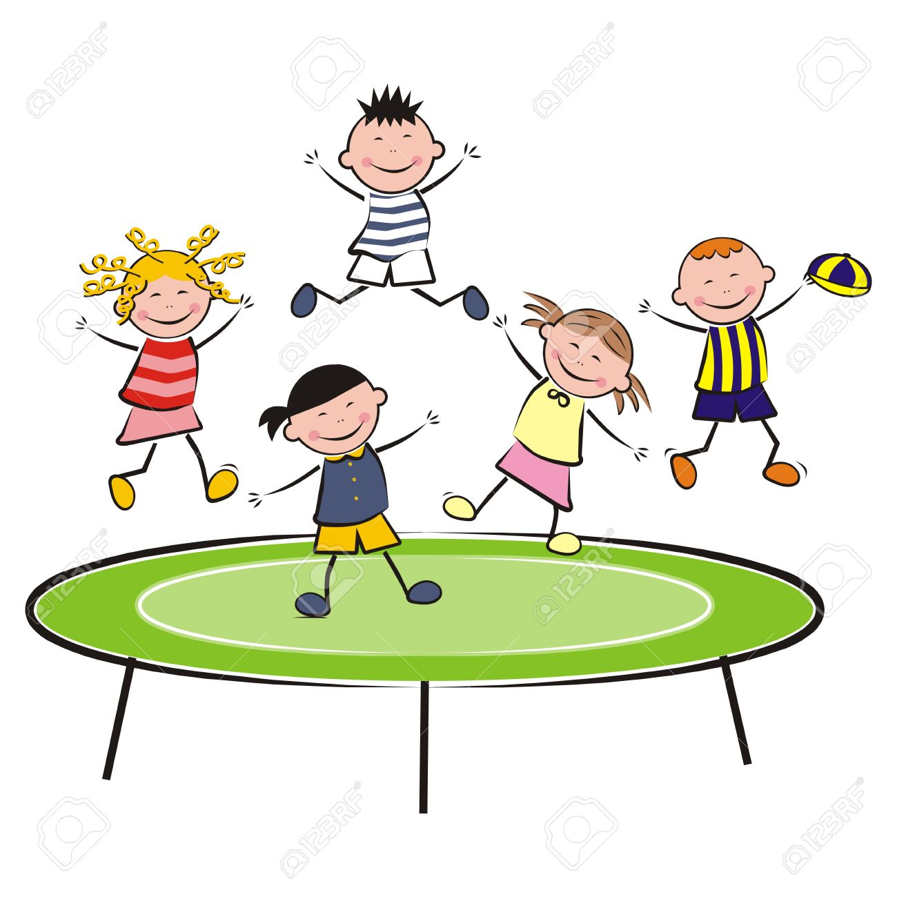 594 Trampoline free clipart.