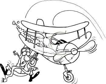 Falling out of plane clipart.
