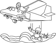 Free clipart of plane skydiving.