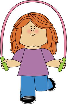 Boy Jumping Rope Clipart.