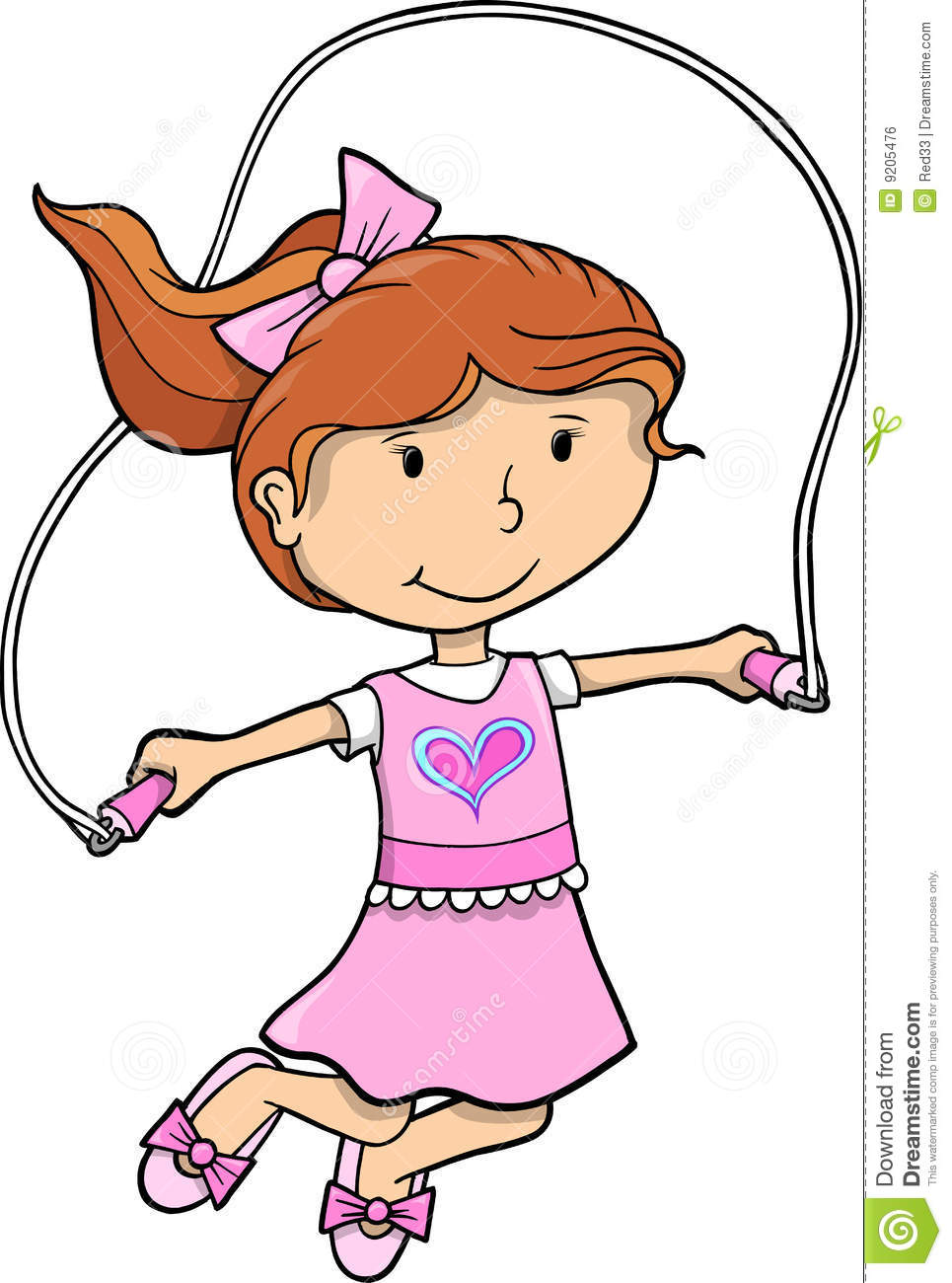 Girl With Rope Clipart.