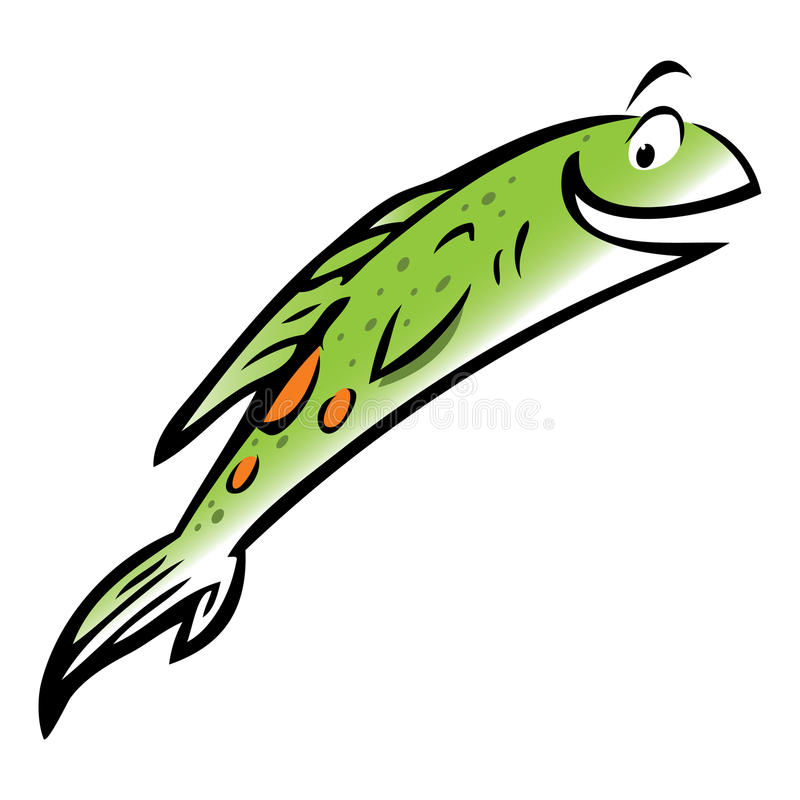 Jumping Salmon Stock Illustrations.