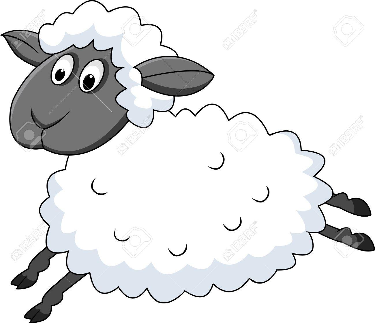 Jumping sheep.