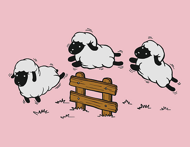 Top 60 Jumping Sheep Clip Art, Vector Graphics and Illustrations.