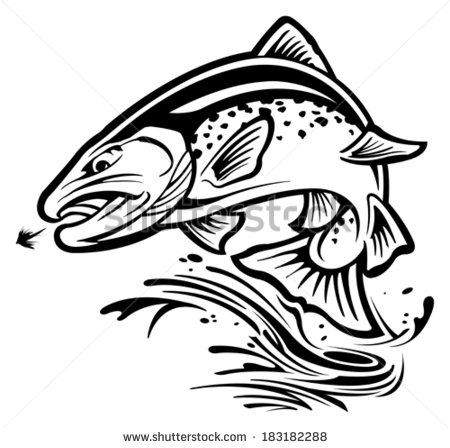 Jumping Trout Silhouette at GetDrawings.com.