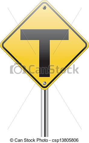 Road junction clipart.